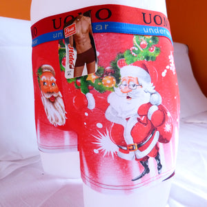 Funny Xmas Christmas Santa Cotton Mens Boxer Shorts
