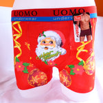Funny Xmas Santa Cotton Bouble Boxer Shorts