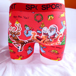 Funny Xmas Christmas Santa Cotton Mens Boxer Shorts Trunks