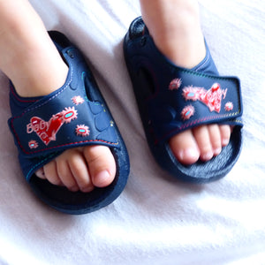 Navy Blue Pink Girls Summer Sandals