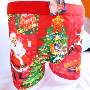 Funny Xmas Christmas Santa House Mens Boxer Shorts Trunks