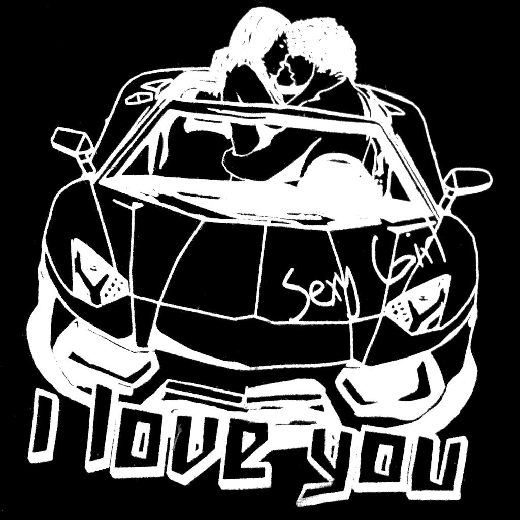 Sebix - Sexy I Love You Kissing Car Cotton Boxer Shorts - Picture
