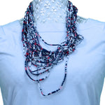 Thin Colourful Rebel Style Fabric String Necklace - Variant 2