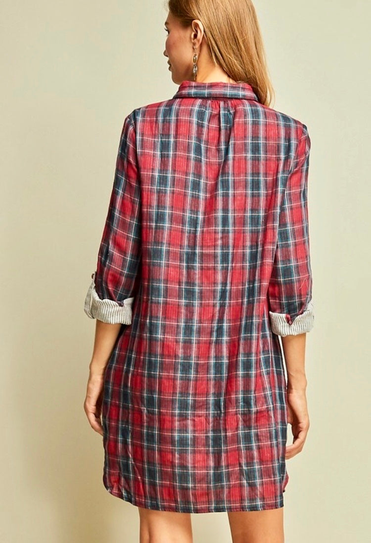 Taylor Plaid Dress
