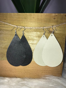 Bone Leather Earrings