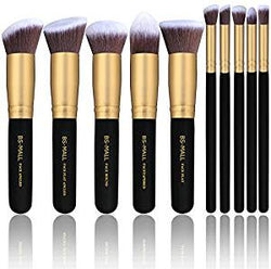 Makeup Brushes Premium Kit (Golden Black)