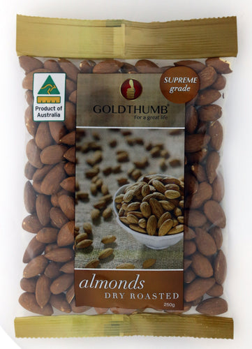 GOLDTHUMB Australian Almonds Dry Roasted
