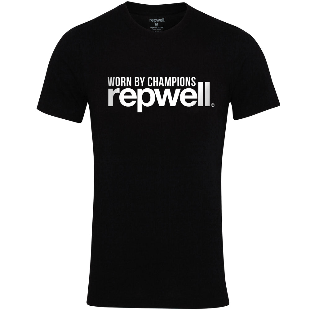 Womens Champion Tee Black / White
