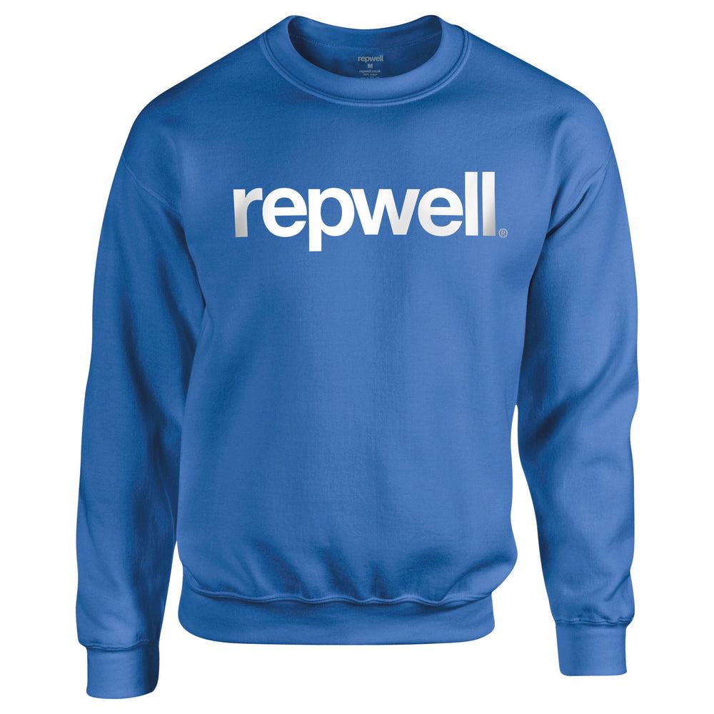 Womens Classic Sweat Top - Blue Sapphire / White