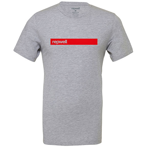Mens repwell® 'Redline' tee - Atheletic Grey