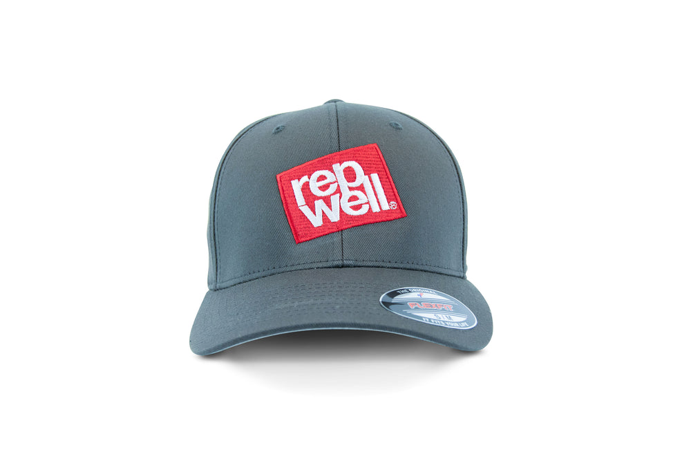 The Red Stack Grey Flexfit Cap