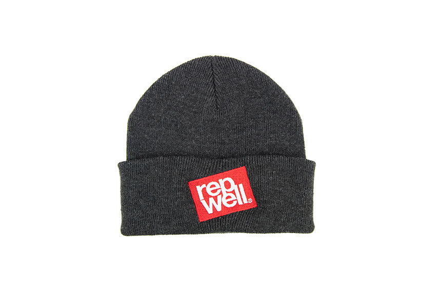 The Red Stack Charcoal Beanie