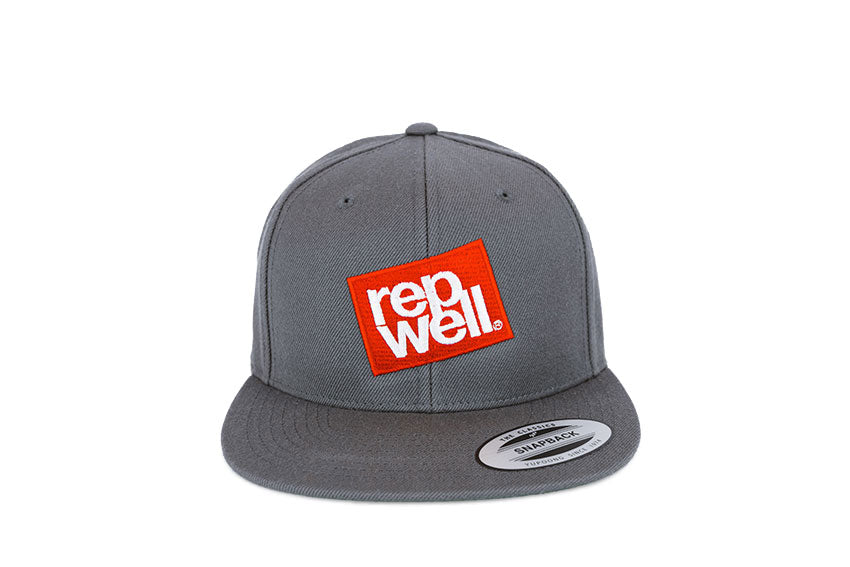The Red Stack Charcoal Classic Snapback