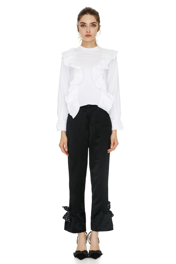 PURE WHITE RUFFLES SHIRT