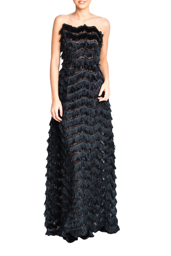 FRINGE LONG GOWN