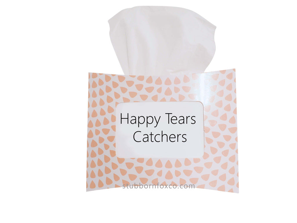 Peach Drops gift tissue box - Happy Tear Catchers for weddings and happy moments.