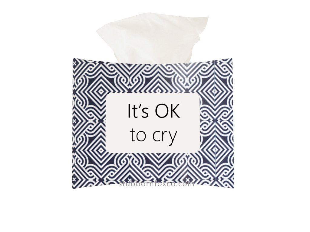 Blue Maze gift tissue box - It's okay to cry.