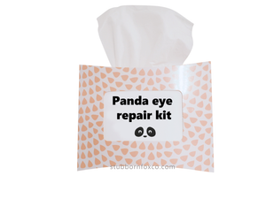 Peach Drops gift tissue box - Panda eye repair kit. For that friend that needs some cheering up.