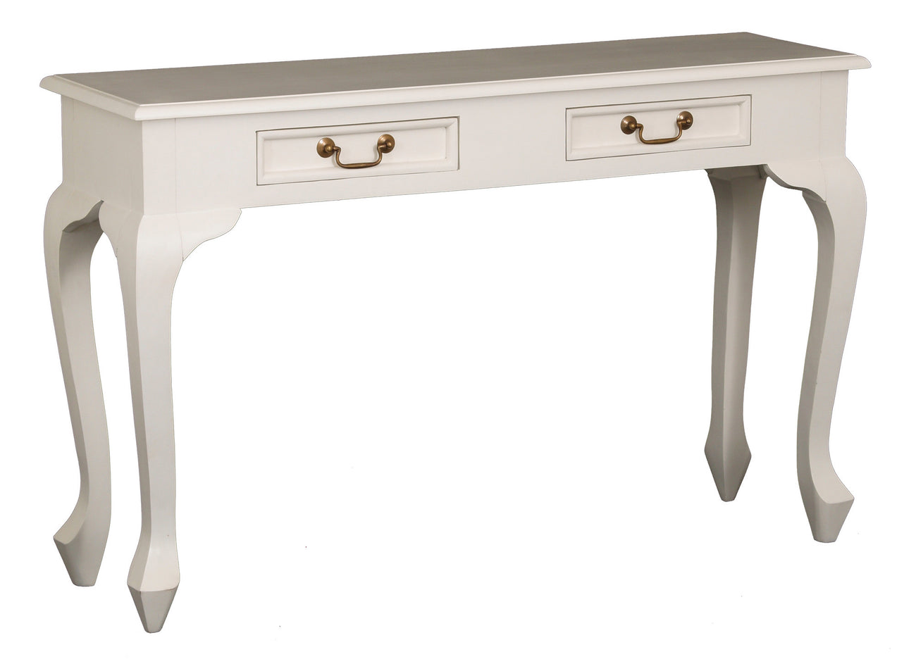 England Queen Anne 2 Drawer Sofa Table Writing Desk TWS899 White