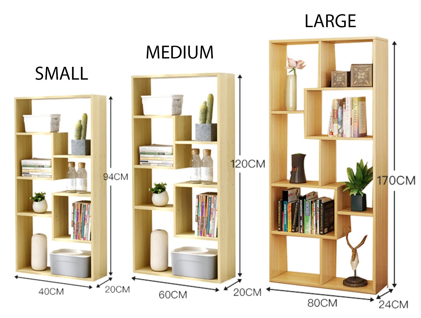 BAPTISTE Modern Cubic Display Stand and Shelf
