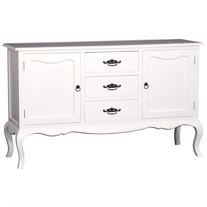 Eiffel Solid Wood Timber 2 Door 3 Drawer 155cm French Sideboard Buffet Table - White TWS899SB-203-FP-WH_1