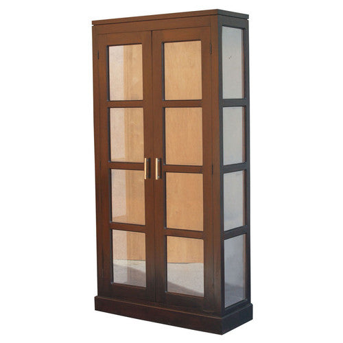France Parisian Glass Display Cabinet Cupboard TWS899DC-200-PNM-K