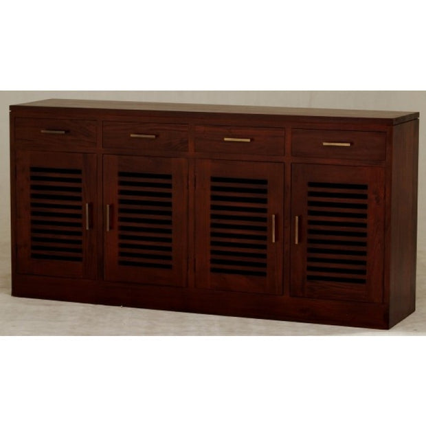 4 Door 4 Drawer Denmark Buffet - Mahogany