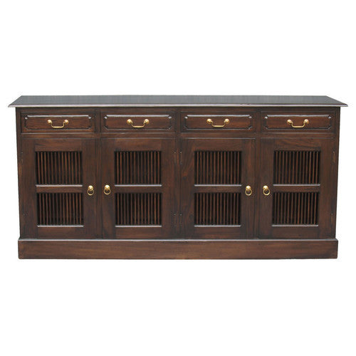 Norway Teak Slatted 4 Door 4 Drawer Buffet Sideboard-TWWS889SB-404-DW