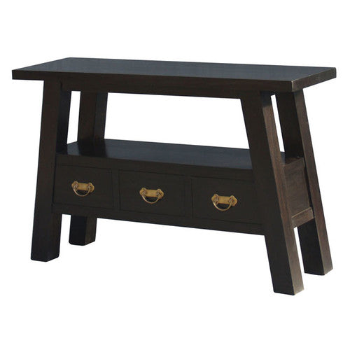 Osaka Japanese Teak -3-Drawer-Sofa-Table-Hall Table TWS889ST-003-JS