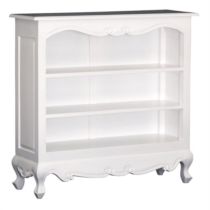QueenAnne Solid Wood Timber French Lowline Bookcase, White TWS899BC-000-QA-SM-WH_1