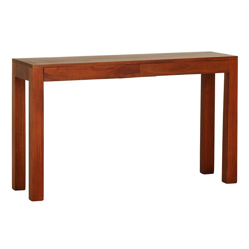 Scandinavia Solid Teak Timber 2 Drawer 130cm Sofa Table - Light Pecan TWS899ST-002-TA-LP_1