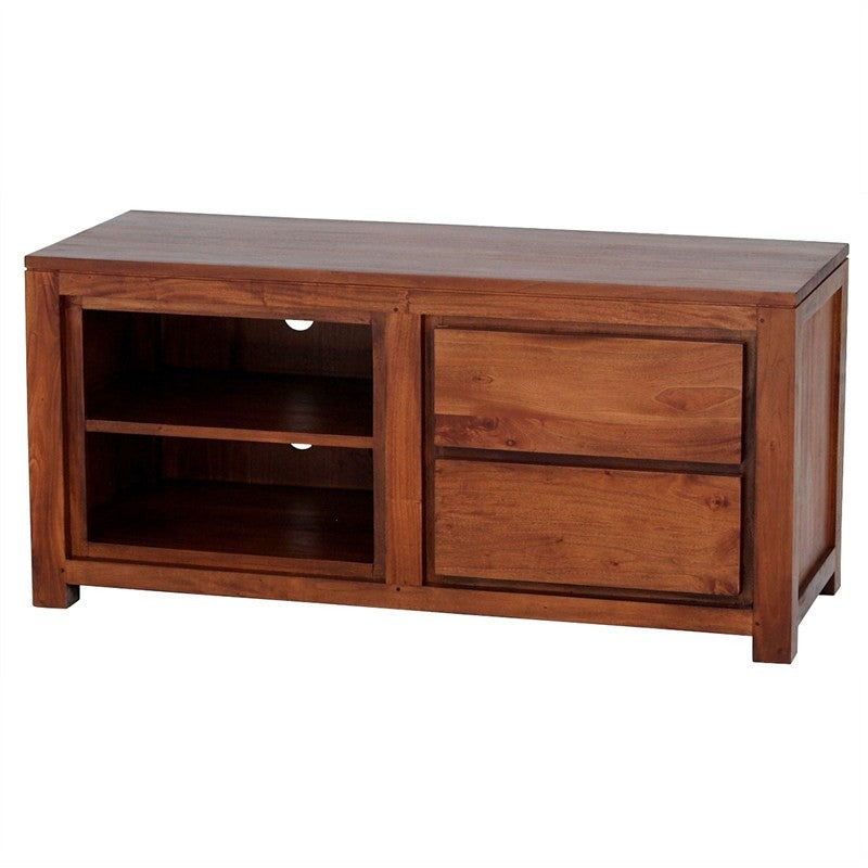 Scandinavia Solid Teak Timber Side Drawer 120cm TV Unit Console - Light Pecan TWS899SB-002-TA-LP_1