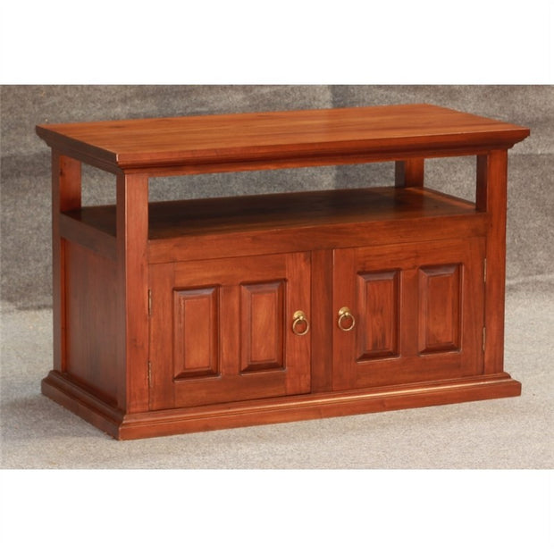 Tasman TV Console Timber 2 Door TV Unit, 97cm, Mahogany TV-200-PN-M