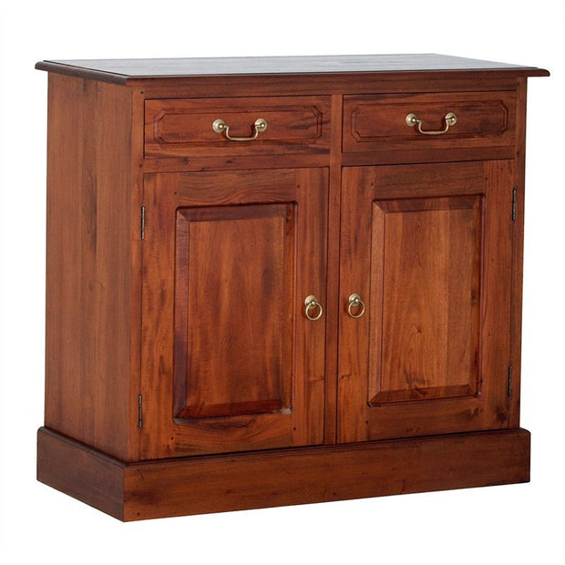 Tasman Teak Timber 2 Door 2 Drawer 100cm Buffet Table, Sideboard Cabinet Mahogany SB-202-PN-M