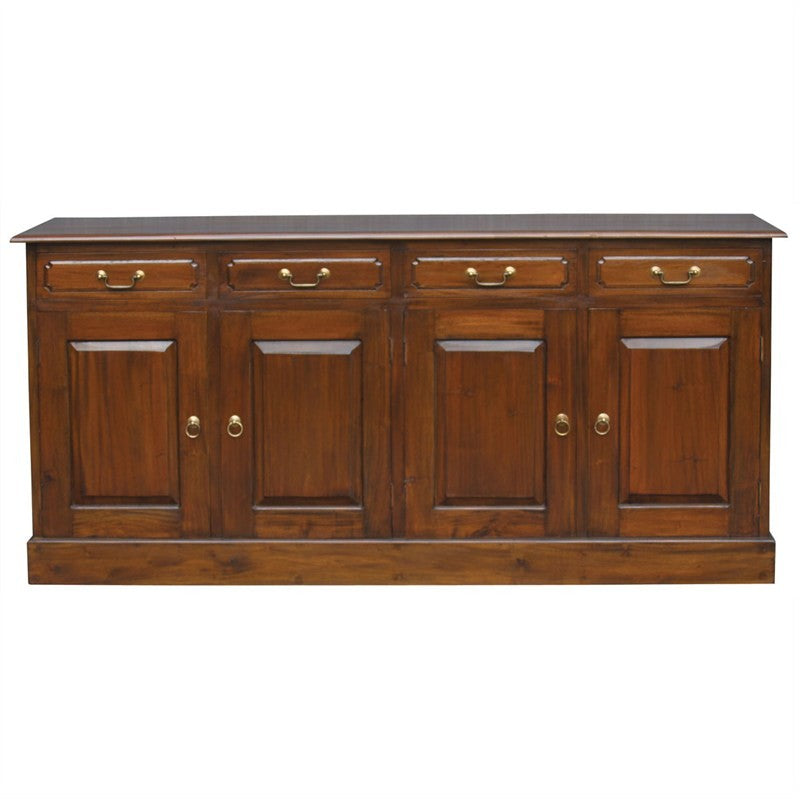 Tasman Teak Timber 4 Door 4 Drawer 190cm Buffet Table, Sideboard Mahogany SB-404-PN-M