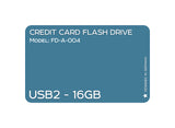 Credit Card USB2.0 Flash Drive 16 GB FD-A-004 - Tokyo Fashion