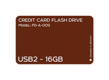 Credit Card USB2.0 Flash Drive 16 GB FD-A-009 - Tokyo Fashion