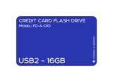 Credit Card USB2.0 Flash Drive 16 GB FD-A-010 - Tokyo Fashion