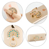 Finger Ring Phone Holder Mount For iPhone Samsung Universal Luxury Peacock Diamond Grips - Tokyo Fashion