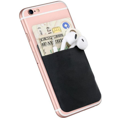 Elastic Cell Phone Wallet Credit ID Card Holder Pocket Stick 3M Adhesive Accessoires - Tokyo Fashion