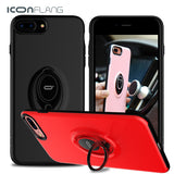 Case for iphone 7 7 Plus Back Shell Stand Holder With Ring ICONFLANG 9903658 - Tokyo Fashion