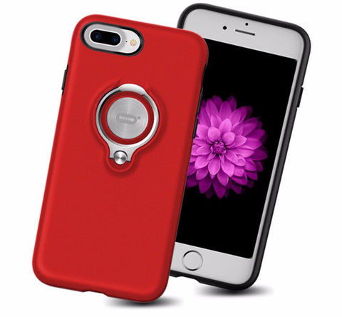 Cover Case With 360 Degree Rotating Metal Ring For iPhone 7 Grips ICONFLANG 9973653 - Tokyo Fashion