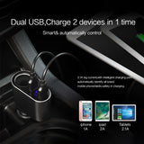 FLOVEME 5V/3.1A Universal LED Dual USB Car Charger for iPhone X 8 7 6 Xiaomi Alloy Car Lighter Slot Mobile Phone Charger - Tokyo Fashion