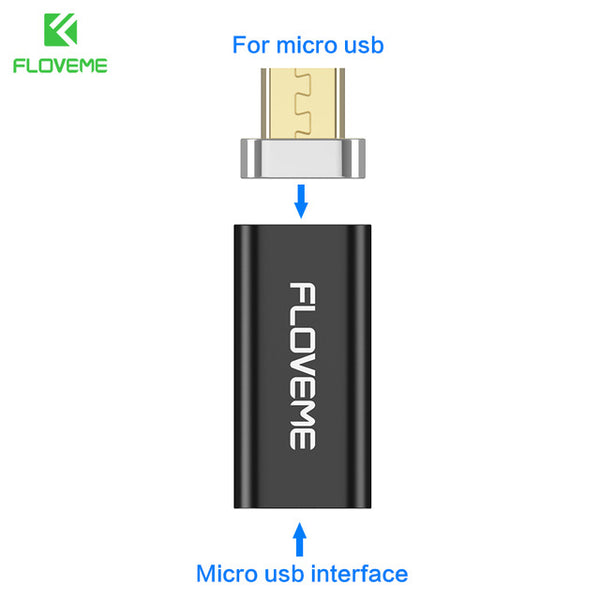 FLOVEME Micro USB to Type C/For Apple iPhone/Micro Magnetic Charger Cable Adapter For Android/iPhone Mobile Phone Magnet Adapter - Tokyo Fashion
