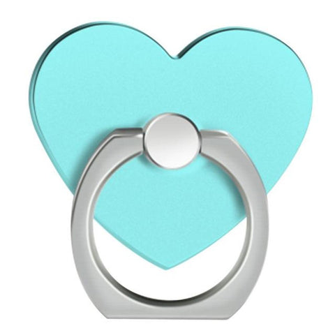 Cell Phone Finger Ring Holder Stand. 360 Degree Creols Metal Phone Stand [Love Heart] - Tokyo Fashion