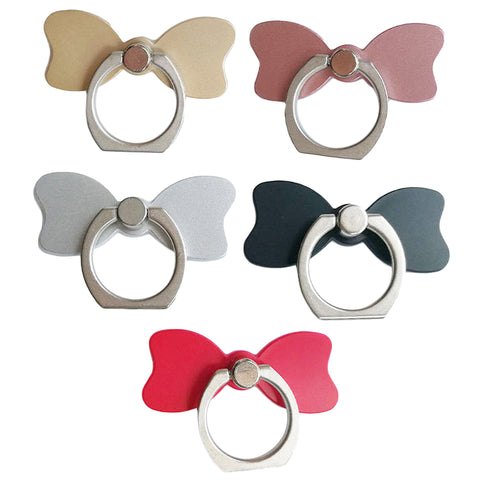 Cell Phone Ring Holder, 360° Rotation, Metal Phone Ring Stand for iPhone, Universal Smartphones, [Bow tie] - Tokyo Fashion