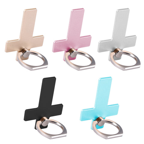 Universal 360 Degree Cross Metal Finger Ring Stand Holder For Mobile Phone, Grips Creols For iPhone iPad And Others - Tokyo Fashion