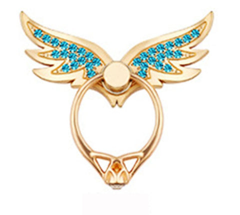 Angel Wings 360 Degree Metal Phone Finger Ring Holder For iPhone Samsung, Phone Stand Creols - Tokyo Fashion