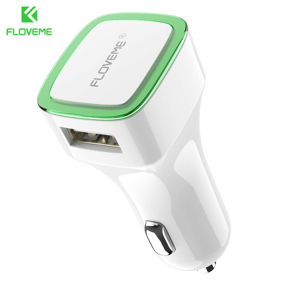 FLOVEME LED Car Charger Dual USB Output 2.1A Lighter DC 12-24V 2 Port Car-charger Phone Adapter For iPhone X 8 Samsung S8 Xiaomi - Tokyo Fashion