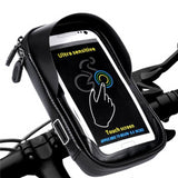 Waterproof Bike Bicycle Cell Phone Holder Stand Motorcycle Handlebar Mount Bag 6.0 inch - Tokyo Fashion